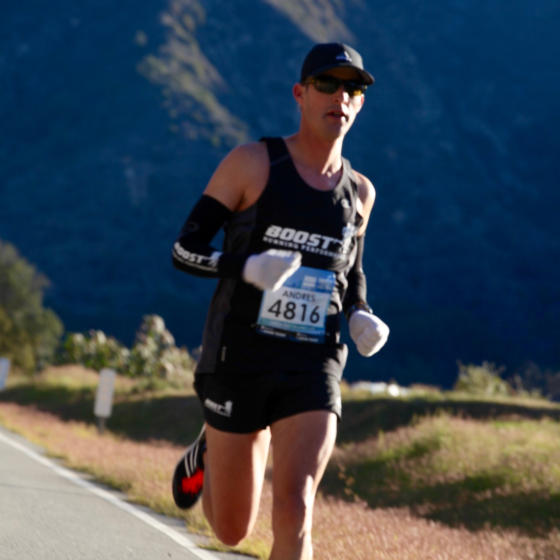Andy racing at the Revel Canyon City half-marathon